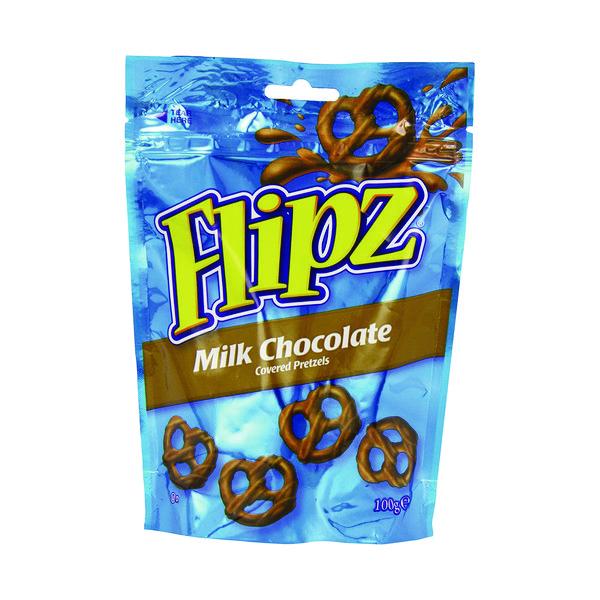 Flipz Milk Chocolate Pretzels 100g 36870