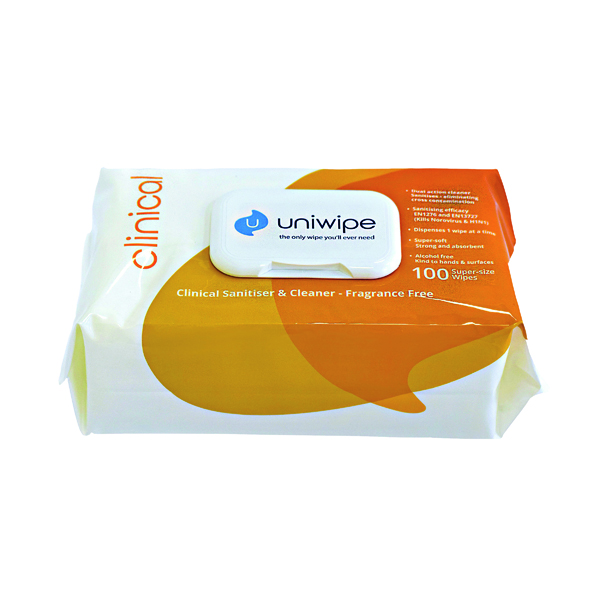 Uniwipe Clinical Wipes (100 Pack) 5833