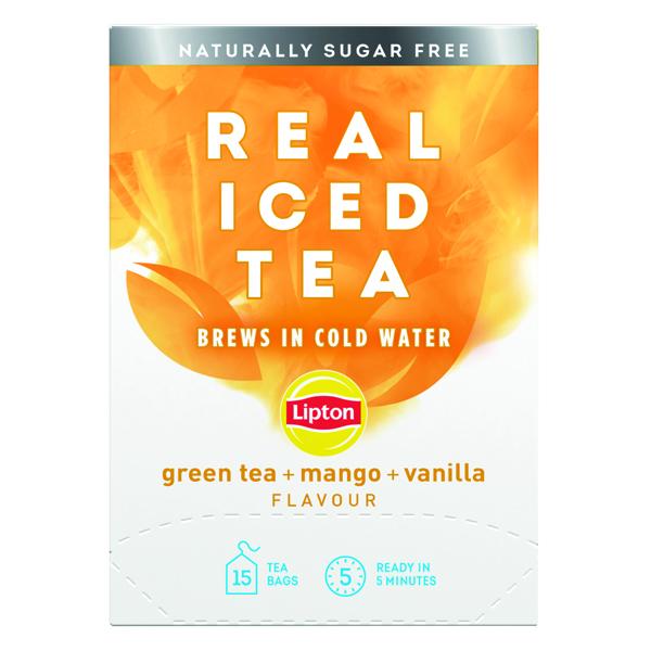 Cold Drinks Lipton Cold Brew Green Tea Mango (15 Pack) 67737992