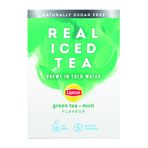 Cold Drinks Lipton Cold Brew Green Tea Mint (15 Pack) 67737998