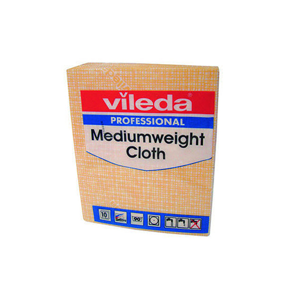 Cloths / Dusters / Scourers / Sponges Vileda Medium Weight Cloth Yellow (10 Pack) 106402
