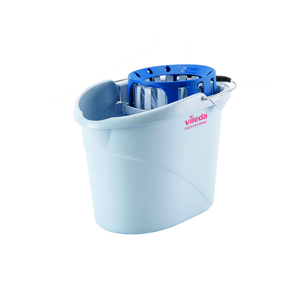 Vileda Supermop Bucket and Wringer Blue 138924