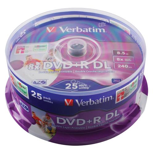 Verbatim 4.7GB 8x Speed Slim Case DVD+R (25 Pack) 43667