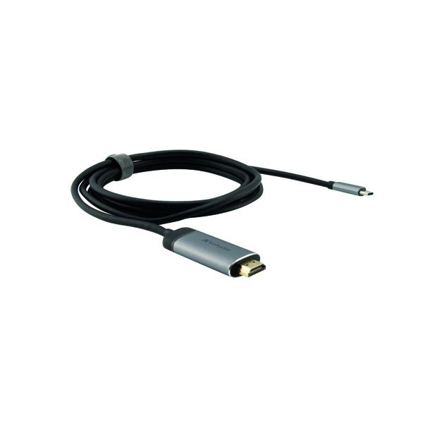 Cables & Adaptors Verbatim USB-C to HDMI 4K Adaptor with 1.5m Cable 49144