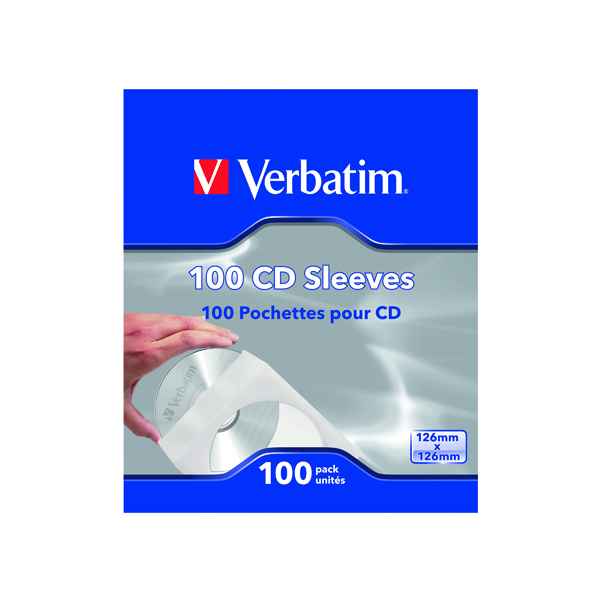 Other Verbatim CD/DVD Sleeves Paper (100 Pack) 49976
