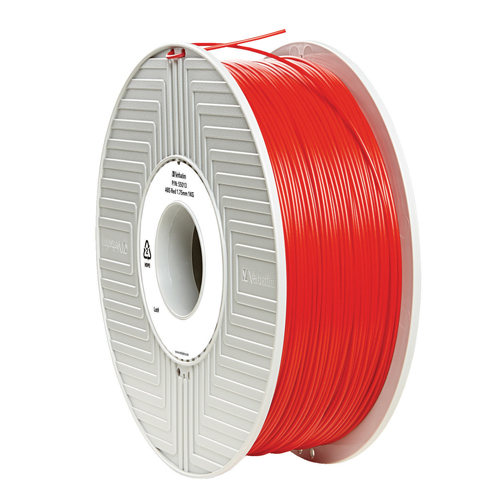 Unspecified Verbatim ABS 3D Printing Red Filament 1.75mm 1kg Reel 55013