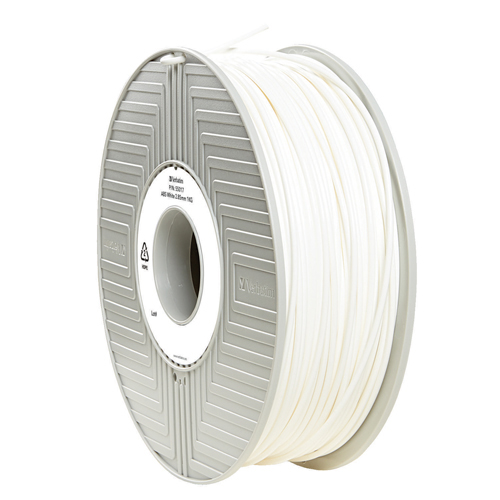 Unspecified Verbatim ABS 3D Printing White Filament 2.85mm 1kg Reel 55017