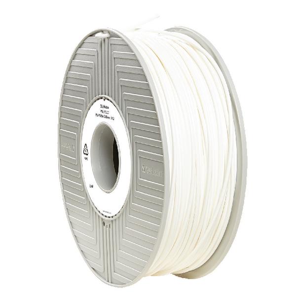 Verbatim PLA 3D Printing White Filament 2.85mm 1kg Reel 55277