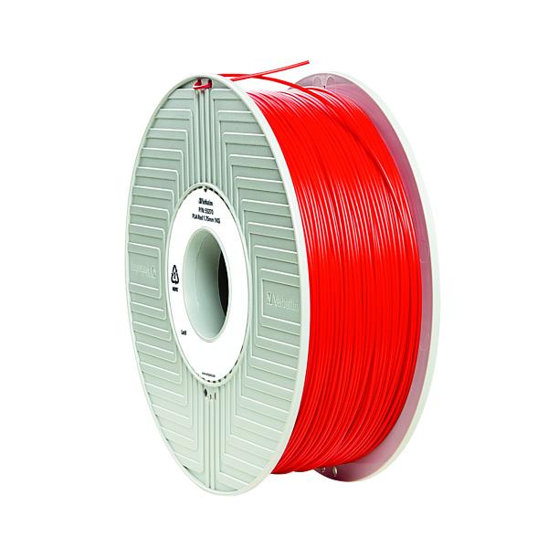 3D Printing Verbatim 3D Printer Filament PLA 1.75mm 1kg Red 55320