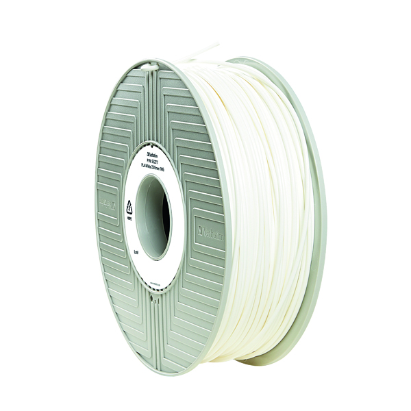 3D Printing Verbatim 3D Printer Filament PLA 2.85mm 1kg White 55328