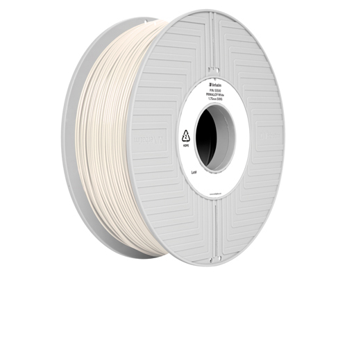 Unspecified Verbatim Primalloy 3D Printing Filament 1.75mm 500g Reel White 55500