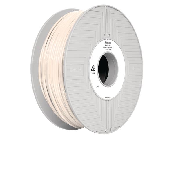 Verbatim Primalloy 3D Printing Filament 2.85mm 500g Reel White 55501
