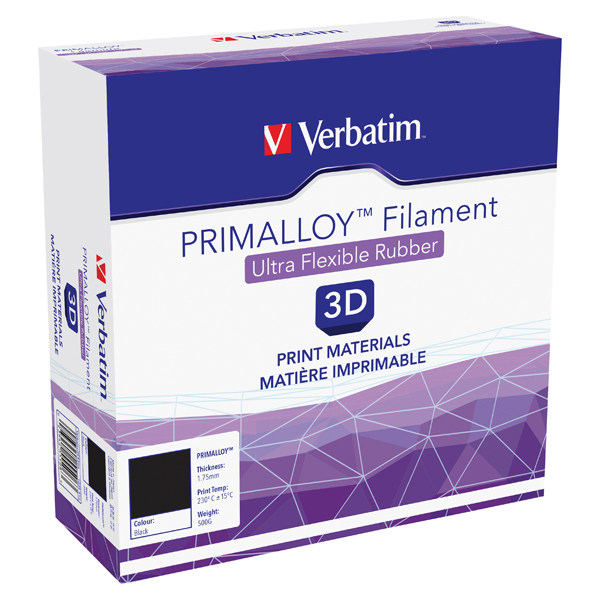 Verbatim 1.75mm 500g Black Primalloy 55506