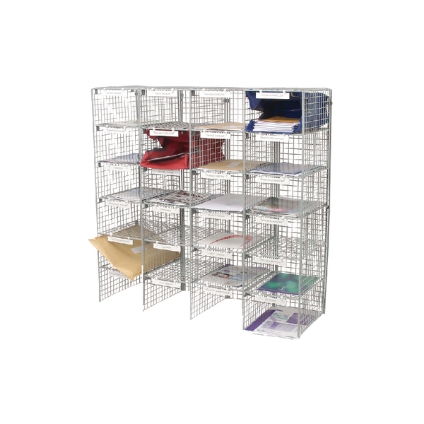 GoSecure Mail Sorter 24 Compartment Grey MSU24GYS