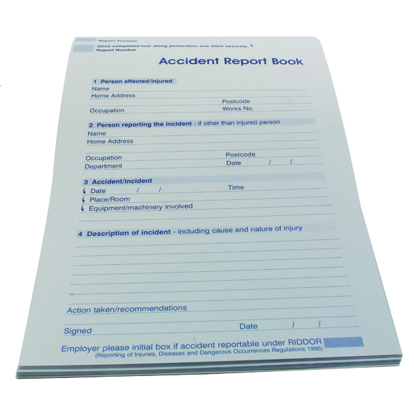 Unspecified Wallace Cameron Accident Report Book 5401015