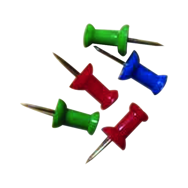 Pins Push Pins Assorted (20 Pack) 20471