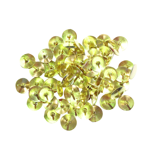 Pins Brass Drawing Pins 9.5mm (1000 Pack) 34231
