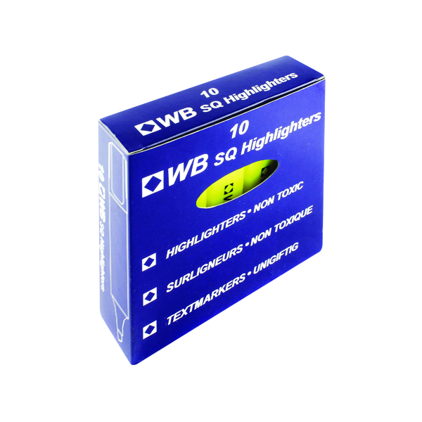 Yellow Hi-Glo Highlighter Pen (10 Pack) HI2717 819111