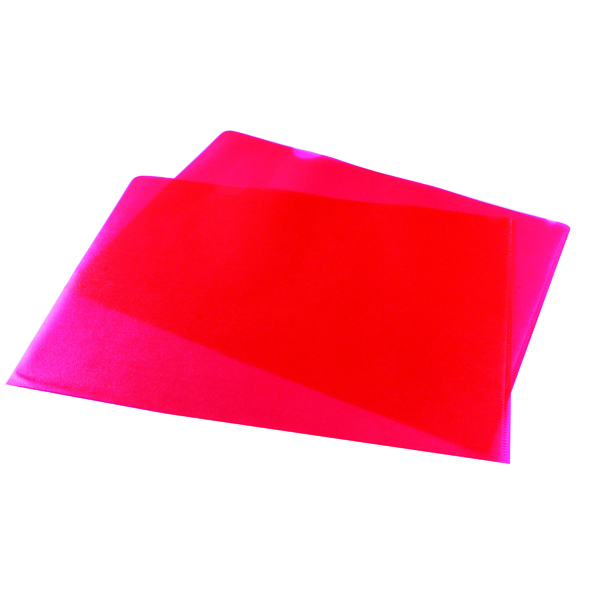 A4 Red Cut Flush Folders (100 Pack) WX01485