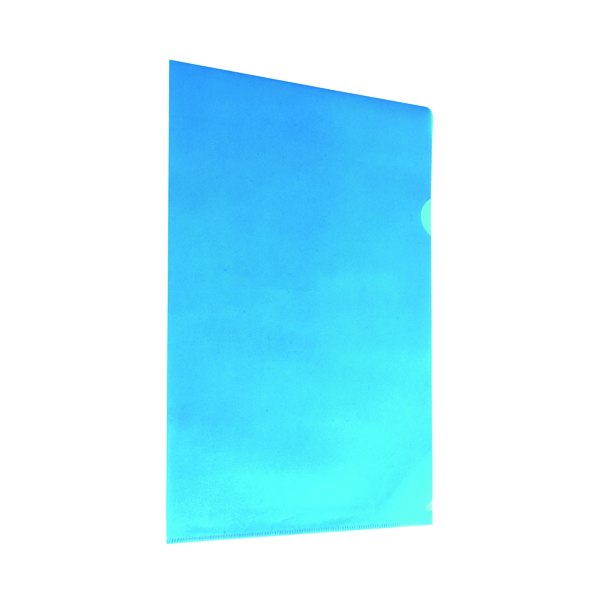 A4 Blue Cut Flush Folders (100 Pack) WX01486