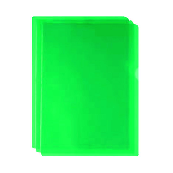 A4 Green Cut Flush Folders (100 Pack) WX01488