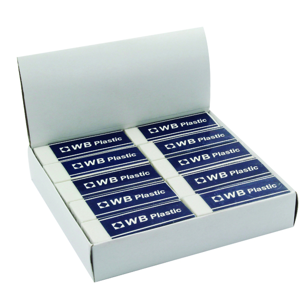 White Pencil Erasers (20 Pack) WX01696