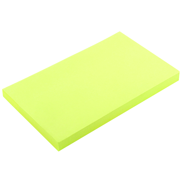 Yellow Standard Sizes Repositionable Quick Note Pad 75 x 125mm (12 Pack) WX10503