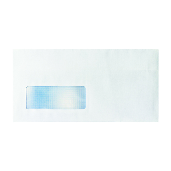 White Window DL Window Envelope 80gsm Self Seal White (1000 Pack) WX3455