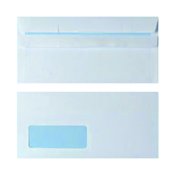 White Window DL Window Envelope 90gsm White Self Seal (1000 Pack) WX3481