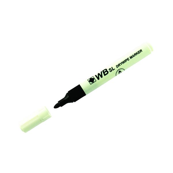 Black Whiteboard Marker Pens Bullet Tip (10 Pack) WB15 804032