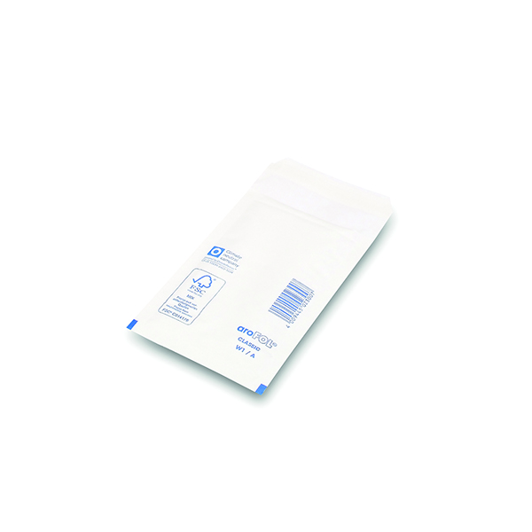 Bubble Lined Envelopes Size 1 100x165mm White (200 Pack) XKF71447