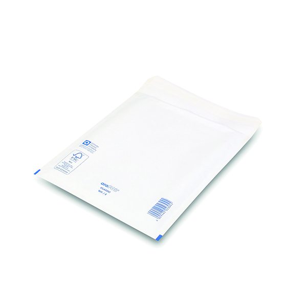 Bubble Lined Envelopes Size 5 220x265mm White (100 Pack) XKF71450