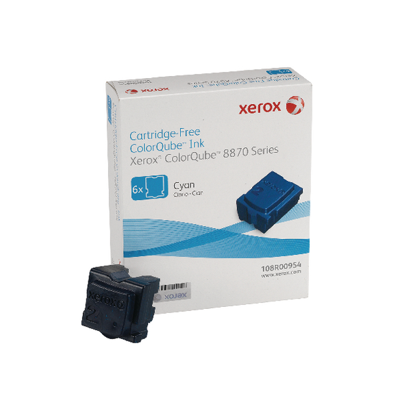 Unspecified Xerox Colorqube 8870 Ink Stick Cyan (6 Pack) 108R00955 108R00954