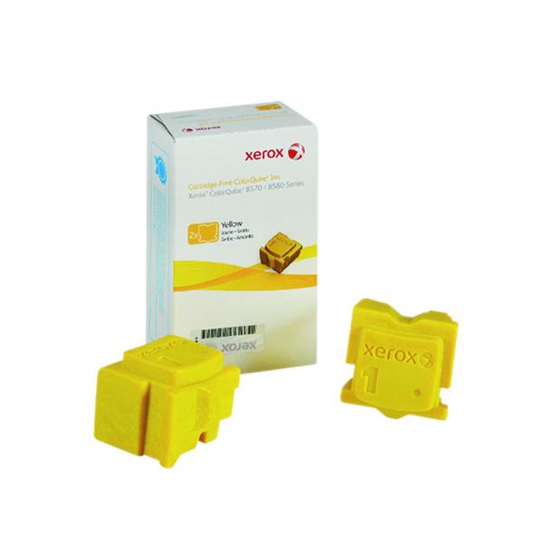 Ink Sticks Xerox ColorQube 8570 Yellow Ink Stick 4.4K (2 Pack) 108R00933