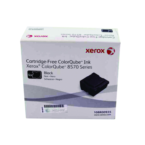 Ink Sticks Xerox ColorQube 8570 Black Ink Stick 8.6K (4 Pack) 108R00935