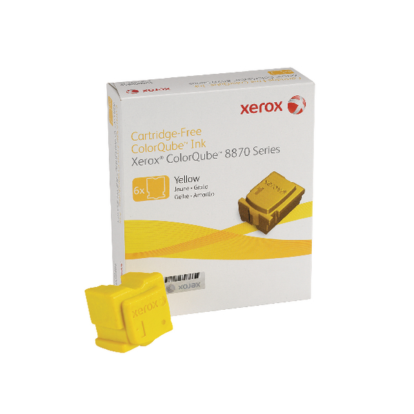 Unspecified Xerox ColorQube 8870 Yellow Ink Stick 17K (6 Pack) 108R00956