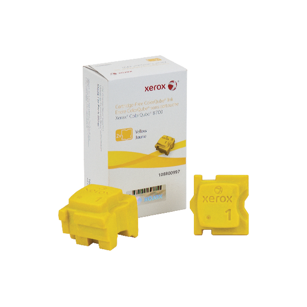 Unspecified Xerox ColorQube 8700 Yellow Ink Stick (2 Pack) 108R00997