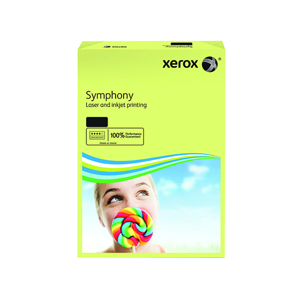 Colour 80gsm Xerox Copier A3 Symphony Tinted 80gsm Pastel Yellow (500 Pack) 003R91957