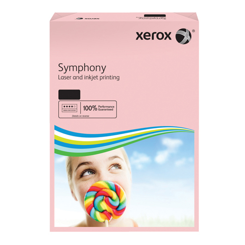 Xerox Copier A3 Symphony Tinted 80gsm Pastel Pink (500 Pack) 003R92261