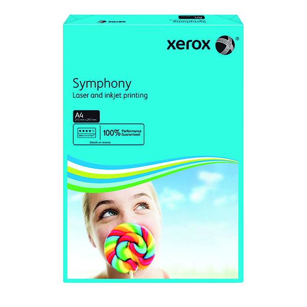 Colour 80gsm Xerox Copier A4 Symphony Tinted 80gsm Dark Blue (500 Pack) 003R93959