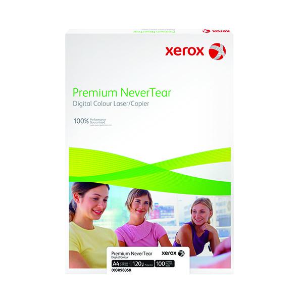 Less than 80gsm White/Colour Xerox Copier A4 Premium Nevertear 95 Micron White (100 Pack) 003R98056