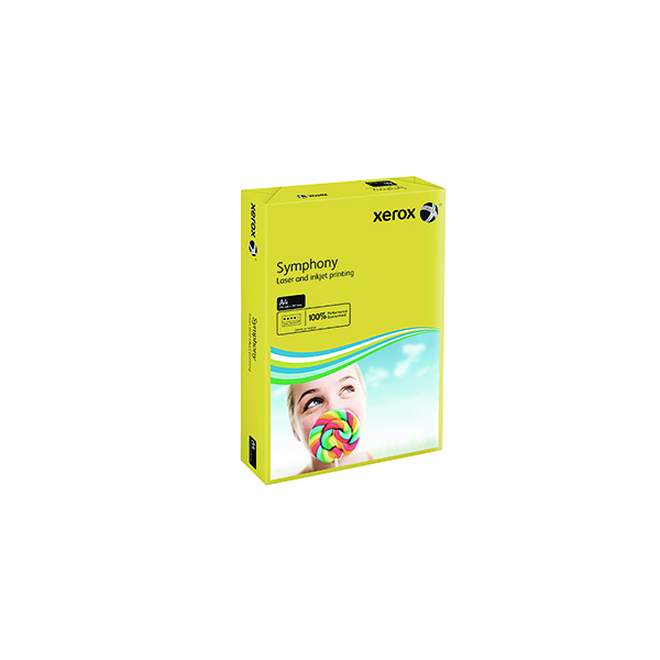 Colour 80gsm Xerox Symphony Dark Yellow A4 80gsm Paper (500 Pack) XX93952