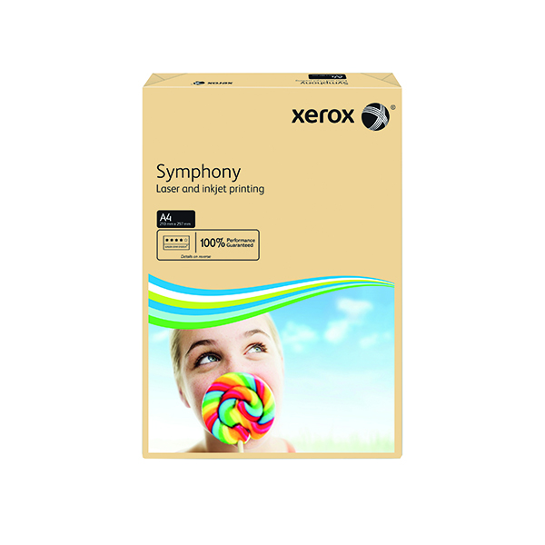 Colour 80gsm Xerox Symphony Pastel Salmon A4 80gsm Paper (500 Pack) XX93962