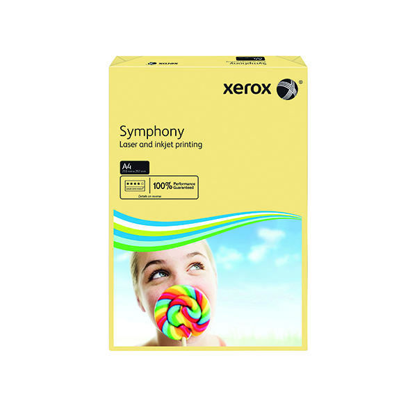 Colour 80gsm Xerox Symphony Pastel Ivory A4 80gsm Paper (500 Pack) XX93964