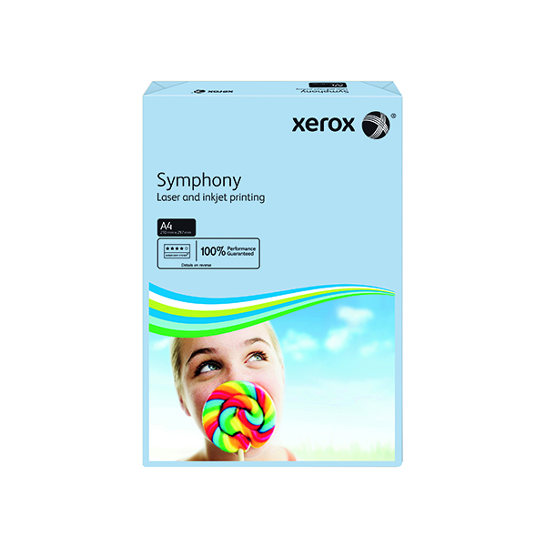 Colour 80gsm Xerox Symphony Pastel Blue A4 80gsm Paper (500 Pack) XX93967