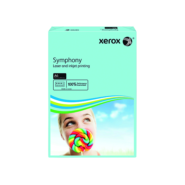 Colour 80gsm Xerox Symphony Mid-Blue A4 80gsm Paper (500 Pack) XX93968