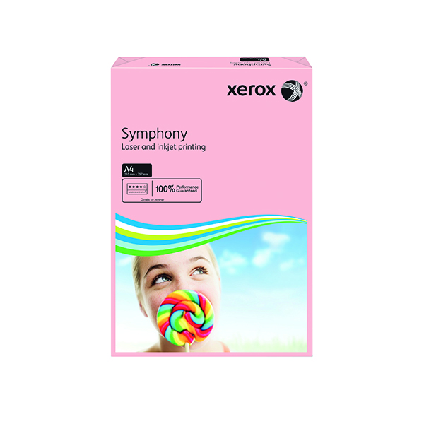 Colour 80gsm Xerox Symphony Pastel Pink A4 80gsm Paper (500 Pack) XX93970