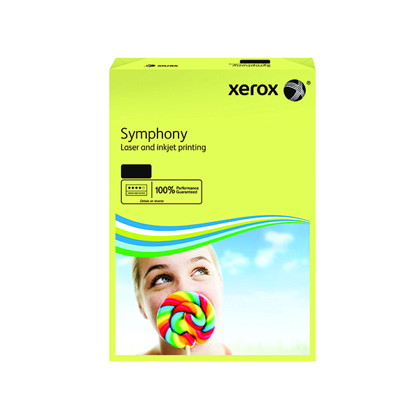Colour 80gsm Xerox Symphony Pastel Yellow A4 80gsm Paper (500 Pack) XX93975