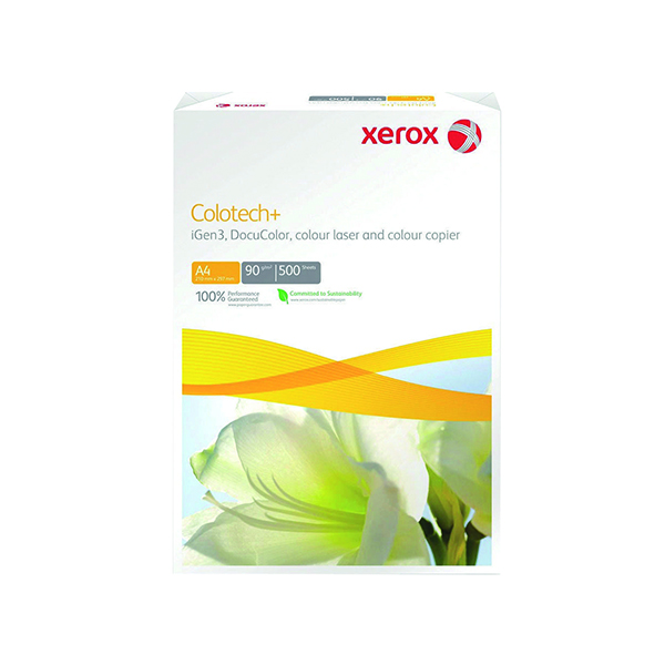 White 120gsm to 160gsm Xerox Colotech+ White A4 120gsm Paper (500 Pack) 003R98847